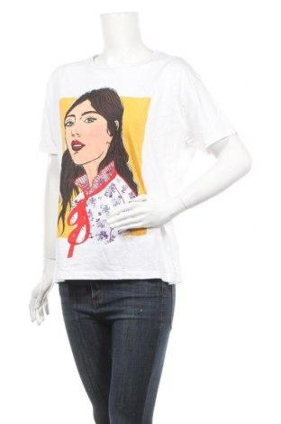 Дамска тениска Zara, Размер L, Цвят Бял, Цена 29,00лв.