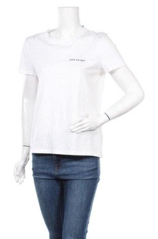 Дамска тениска Zara, Размер M, Цвят Бял, Памук, Цена 14,82лв.