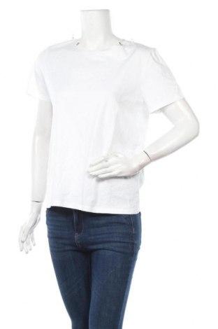 Дамска тениска Zara, Размер M, Цвят Бял, 100% памук, Цена 22,62лв.