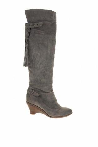 Γυναικείες μπότες, Μέγεθος 41, Χρώμα Γκρί, Φυσικό σουέτ, Τιμή 43,52€