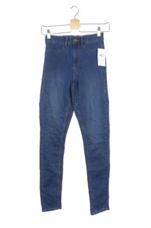 Дамски дънки Denim Co, Размер XS, Цвят Син, Памук, полиестер, еластан, Цена 40,95лв.
