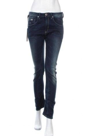Дамски дънки G-Star Raw, Размер M, Цвят Син, 99% памук, 1% еластан, Цена 40,95лв.