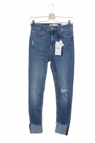 Γυναικείο Τζίν Zara, Μέγεθος S, Χρώμα Μπλέ, 90% βαμβάκι, 8% πολυεστέρας, 2% ελαστάνη, Τιμή 21,90€
