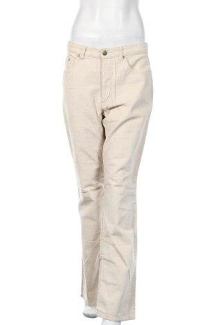Дамски джинси Biaggini, Размер L, Цвят Екрю, Памук, Цена 12,04лв.