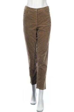 Γυναικείο κοτλέ παντελόνι Zerres, Μέγεθος L, Χρώμα  Μπέζ, 66% βαμβάκι, 32% βισκόζη, 2% ελαστάνη, Τιμή 5,91€