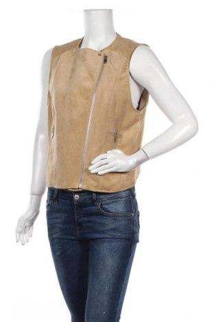 Дамски елек H&M, Размер M, Цвят Бежов, Полиестер, Цена 7,73лв.