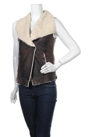 Дамски елек H&M L.O.G.G., Размер XS, Цвят Кафяв, Полиестер, Цена 30,45лв.
