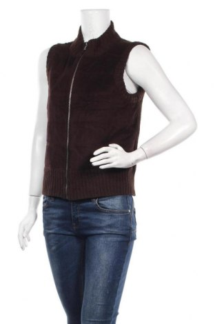 Дамски елек Liz Claiborne, Размер S, Цвят Кафяв, 89% полиестер, 11% еластан, Цена 25,20лв.