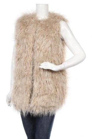 Дамски елек Pull&Bear, Размер S, Цвят Бежов, 58% модал, 21% акрил, 21% полиестер, Цена 19,85лв.