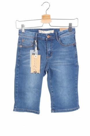 Дамски къс панталон Jennyfer, Размер XS, Цвят Син, 73% памук, 23% полиестер, 2% еластан, 2% вискоза, Цена 21,00лв.