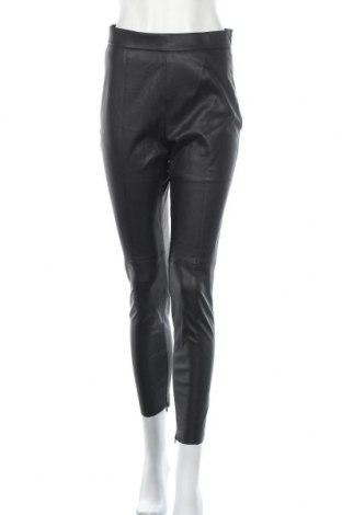 Γυναικείο παντελόνι δερμάτινο Zara, Μέγεθος M, Χρώμα Μαύρο, Δερματίνη, Τιμή 15,91€