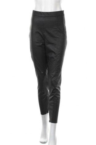 Γυναικείο παντελόνι δερμάτινο Zara, Μέγεθος L, Χρώμα Μαύρο, Δερματίνη, Τιμή 15,41€