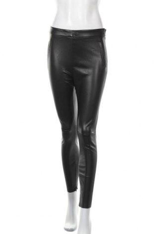 Γυναικείο παντελόνι δερμάτινο Zara, Μέγεθος M, Χρώμα Μαύρο, Δερματίνη, Τιμή 16,42€