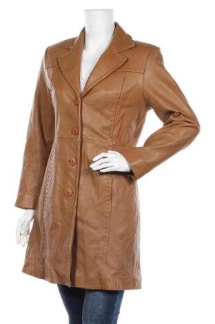 Дамски кожен шлифер Reilly Olmes, Размер S, Цвят Бежов, Естествена кожа, Цена 28,98лв.