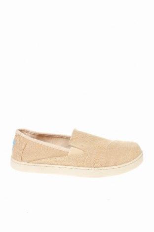 Γυναικεία παπούτσια Toms, Μέγεθος 37, Χρώμα  Μπέζ, Κλωστοϋφαντουργικά προϊόντα, Τιμή 17,79€