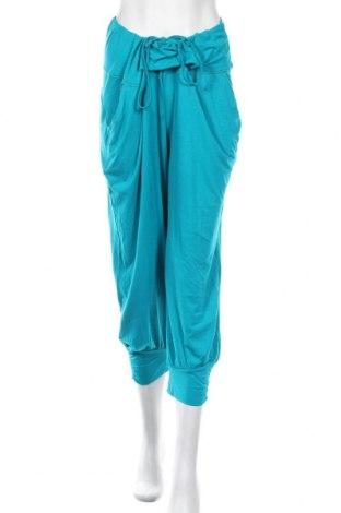 Дамски панталон, Размер XL, Цвят Син, 95% вискоза, 5% еластан, Цена 11,38лв.