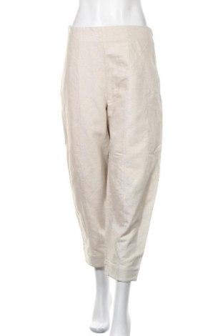 Дамски панталон COS, Размер M, Цвят Сив, 63% лен, 37% памук, Цена 103,95лв.