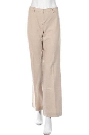 Дамски панталон Calvin Klein, Размер M, Цвят Бежов, 67% полиестер, 29% вискоза, 4% еластан, Цена 112,34лв.