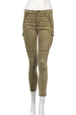 Дамски панталон H&M L.O.G.G., Размер S, Цвят Зелен, 58% лиосел, 40% памук, 2% еластан, Цена 28,35лв.