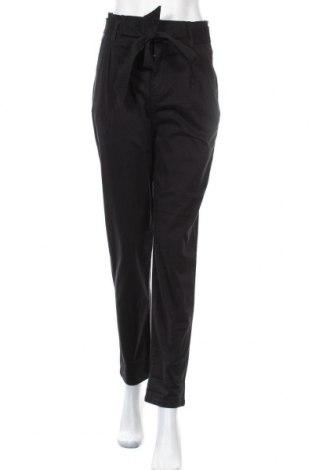 Дамски панталон H&M L.O.G.G., Размер S, Цвят Черен, 97% памук, 3% еластан, Цена 18,75лв.
