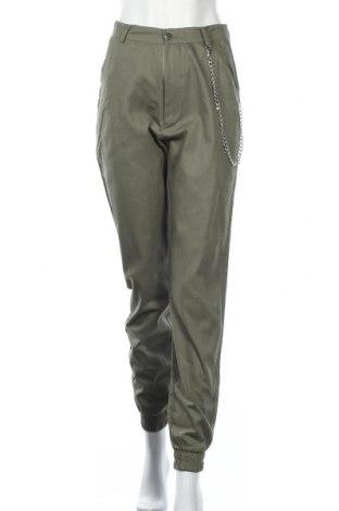 Γυναικείο παντελόνι Missguided, Μέγεθος M, Χρώμα Πράσινο, Βαμβάκι, Τιμή 11,56€