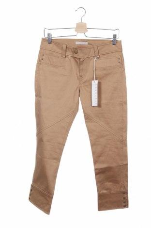 Дамски панталон Stefanel, Размер M, Цвят Бежов, 97% памук, 3% еластан, Цена 20,28лв.