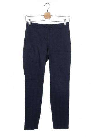 Дамски панталон Stefanel, Размер XS, Цвят Син, 68% памук, 27% лен, 5% еластан, Цена 16,64лв.