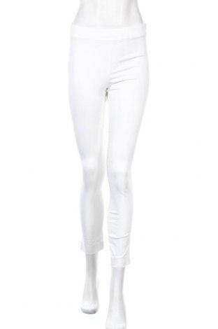 Дамски панталон Stefanel, Размер XS, Цвят Бял, 56% памук, 39% модал, 5% еластан, Цена 18,06лв.