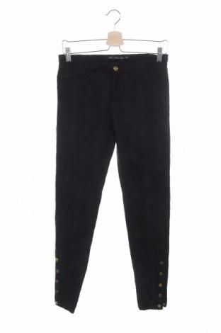 Дамски панталон Zara Trafaluc, Размер M, Цвят Черен, 74% памук, 24% полиестер, 2% еластан, Цена 61,85лв.