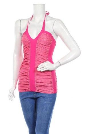 Γυναικείο αμάνικο μπλουζάκι Just Cavalli, Μέγεθος M, Χρώμα Ρόζ , 80% πολυαμίδη, 20% ελαστάνη, Τιμή 20,78€