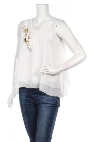Γυναικείο αμάνικο μπλουζάκι La Mode Est A Vous, Μέγεθος M, Χρώμα Λευκό, Πολυεστέρας, Τιμή 6,66€