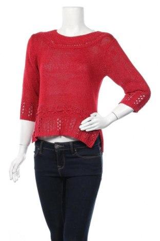 Дамски пуловер, Размер M, Цвят Червен, 50% памук, 35% акрил, 15% вискоза, Цена 10,29лв.