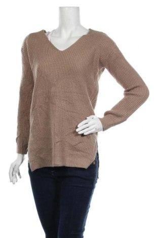 Дамски пуловер, Размер M, Цвят Кафяв, Акрил, Цена 8,40лв.