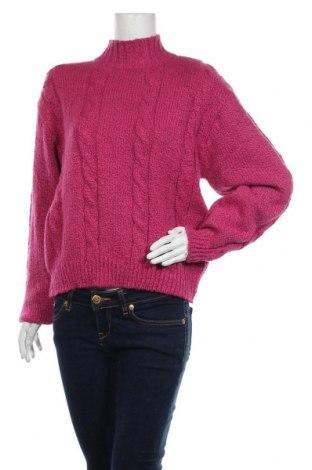 Дамски пуловер, Размер M, Цвят Розов, 95% акрил, 5% полиестер, Цена 23,52лв.