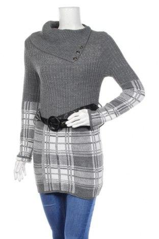 Дамски пуловер, Размер S, Цвят Сив, 95% акрил, 5% еластан, Цена 10,50лв.