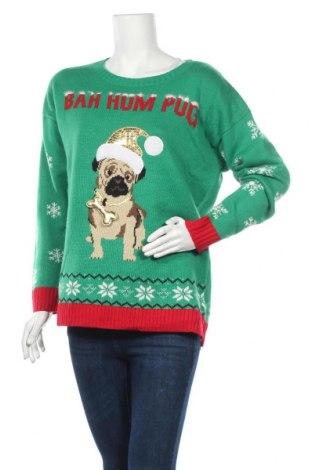 Дамски пуловер, Размер L, Цвят Зелен, Акрил, Цена 27,30лв.