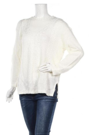 Дамски пуловер, Размер L, Цвят Бял, Цена 12,76лв.