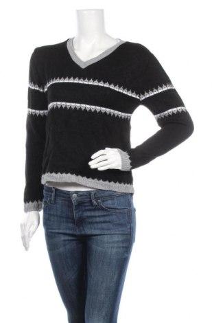 Дамски пуловер, Размер M, Цвят Черен, Акрил, Цена 9,14лв.