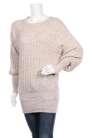 Дамски пуловер, Размер S, Цвят Бежов, Цена 7,61лв.