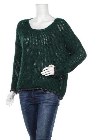Дамски пуловер, Размер L, Цвят Зелен, Цена 11,76лв.
