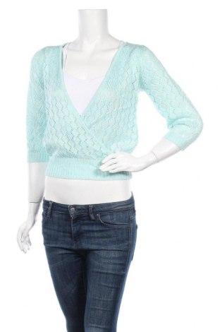 Γυναικείο πουλόβερ, Μέγεθος S, Χρώμα Μπλέ, 65% πολυεστέρας, 35% βαμβάκι, Τιμή 8,64€