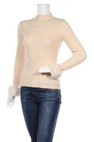 Дамски пуловер, Размер S, Цвят Бежов, Полиестер, еластан, Цена 16,38лв.