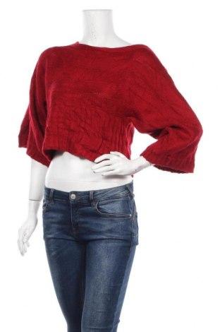 Дамски пуловер, Размер S, Цвят Червен, Акрил, Цена 25,20лв.