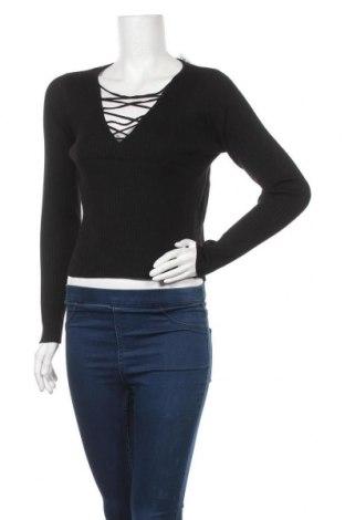 Дамски пуловер Ally, Размер L, Цвят Черен, 70% вискоза, 30% полиамид, Цена 13,43лв.