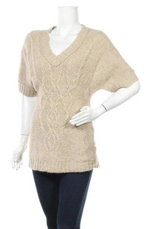 Γυναικείο πουλόβερ Ann Taylor, Μέγεθος M, Χρώμα  Μπέζ, 35%ακρυλικό, 27% μαλλί, 18% βαμβάκι, 13% πολυαμίδη, 7% λινό, Τιμή 10,52€