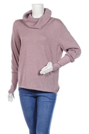 Дамски пуловер Calvin Klein, Размер XL, Цвят Розов, 75% памук, 16% полиестер, 9% метални нишки, Цена 52,20лв.
