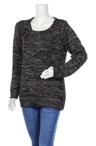 Дамски пуловер Canda, Размер L, Цвят Черен, 54% акрил, 42% полиестер, 4% метални нишки, Цена 15,02лв.