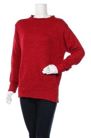 Дамски пуловер Carolyn Taylor, Размер M, Цвят Червен, 95% акрил, 5% полиестер, Цена 15,23лв.