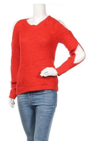 Γυναικείο πουλόβερ Charlotte Russe, Μέγεθος XS, Χρώμα Κόκκινο, Ακρυλικό, Τιμή 15,59€