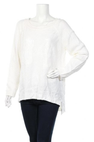 Дамски пуловер City Chic, Размер S, Цвят Бял, 98% акрил, 2% полиамид, Цена 8,40лв.